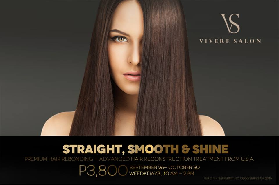 Only P3,800 for any length of our well-loved hair rebonding service combined with an internationaly-acclaimed hair reconstruction treatment.