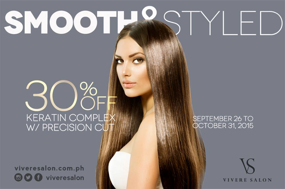 Enjoy 30% OFF Keratin Complex with Haircut Package.